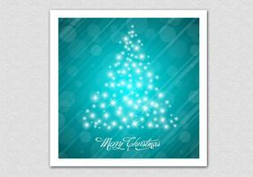 Glowing Bokeh Christmas Tree Vector Background