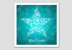 Sparkling Merry Christmas Star Vector Background