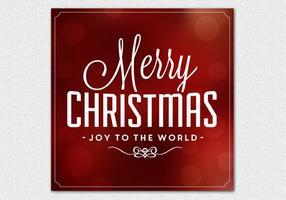 Bokeh Christmas Vector Background