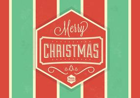 Striped Christmas Vector Background