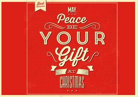 Peace Christmas Vector Background
