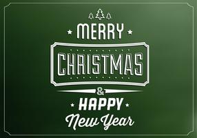 Smaragd Glad Jul Vektor Bakgrund