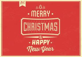Retro Weihnachten Vektor Hintergrund
