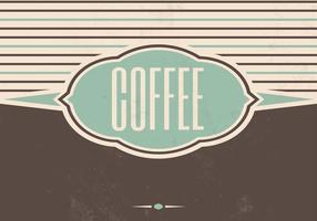 Vintage Coffee Vector Background