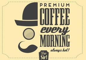 Hipster kaffe vektor bakgrund