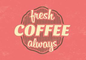 Vintage Fresh Coffee Vector Background