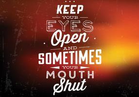 Öffnen Sie Ihre Augen Vektor Hintergrund
