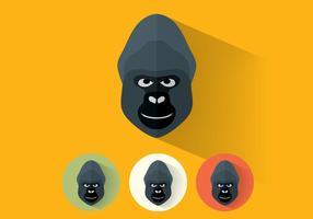 Gorilla-Vektor-Portraits