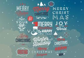 Hipster Christmas Vector Elements