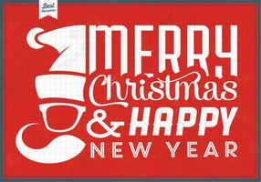 Hipster Santa Christmas Vector Background