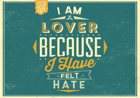 Ich bin ein Liebhaber-Vektor-Poster vektor