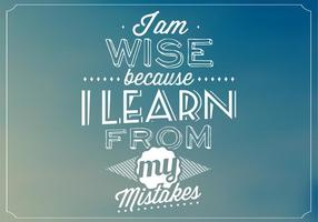 I am Wise Vector Background