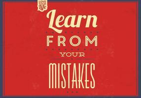 Lernen Sie von Ihren Fehlern Vektor Hintergrund