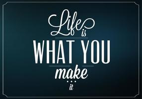 Dunkles Leben ist, was Sie es Vektor Hintergrund machen