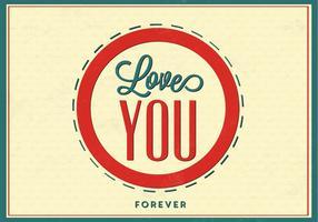 Liebe dich für immer Liebe Vektor Hintergrund