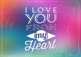 Liebe Bokeh Vektor Hintergrund