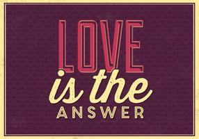 Liebe ist die Antwort Vektor Hintergrund