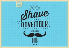 Vintage no shave november vektor bakgrund