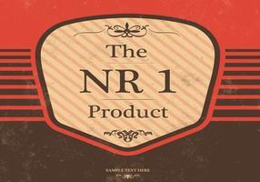 Vintage Produkt Vector emblem och bakgrund
