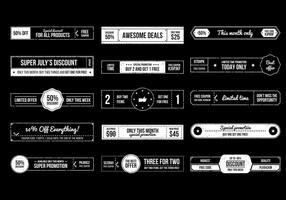 Retro Banner-Vektor-Sammlung
