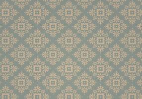 Dusty Blue Vintage Vektor Muster