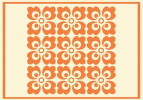 Orange Blumenmuster