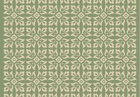 Grüne Verzierung Vektor Muster