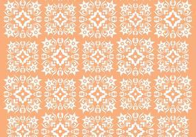 Retro Orange Ornament Vector Mönster