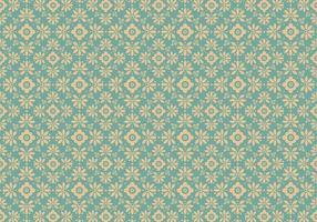 Blå blommig vektor mönster