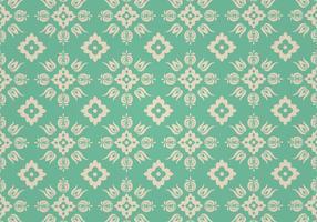 Grön blommig vektor mönster