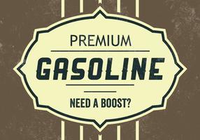Premium Benzin Vektor Hintergrund