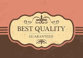 Weinlese-beste Qualitätsvektor-Hintergrund