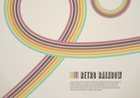 Retro Rainbow Line Vector Background