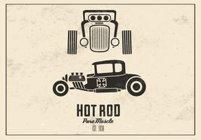 Retro Hot Rod Vector Bakgrund