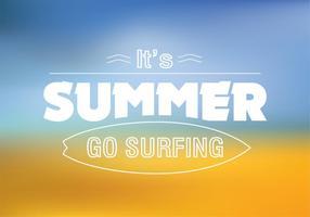 Surfing Summer Vector Background