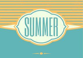 Retro Sommer Vektor Hintergrund