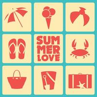 Summer Icons Vector Set