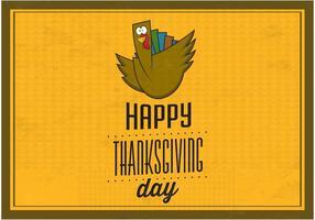 Lycklig Thanksgiving Vector Bakgrund