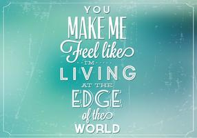 Living On the Edge Vector Background