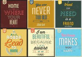 Retro typografische Poster Vector Pack
