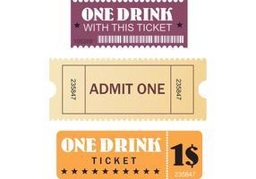 Kostenlose Film- und Event-Tickets vektor