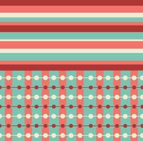 Gratis Teal och Coral Retro Patterns vektor