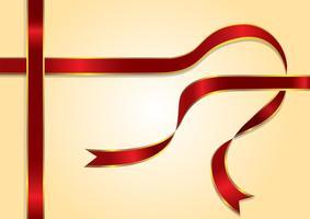 Roter Farbband-Vektor vektor