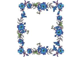 Kostenlose Vector Floral Frame