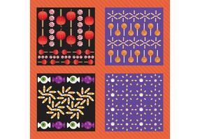 halloween vektor mönster pack