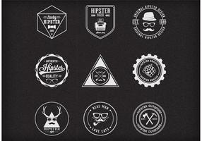 Free Vector Trendy Hipster Abzeichen