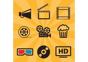 Film-Vektor-Icons vektor