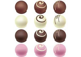 Schokoladensüßigkeitsvektoren vektor