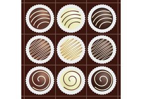 Box av chokladvektorer vektor
