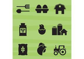 Bauernhof-Vektor-Icons